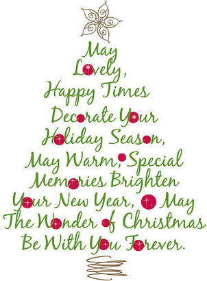 York Wall Coverings RoomMates Quote Peel & Stick Giant Wall Decals - Christmas Tree