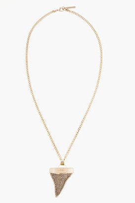 Givenchy Gold and crystal large Shark Tooth Necklace