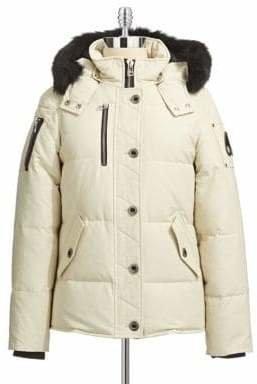Moose Knuckles 3Q Fur Trim Down Jacket