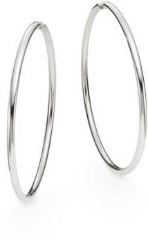 Saks Fifth Avenue Sterling Silver Hoop Earrings/2.75""