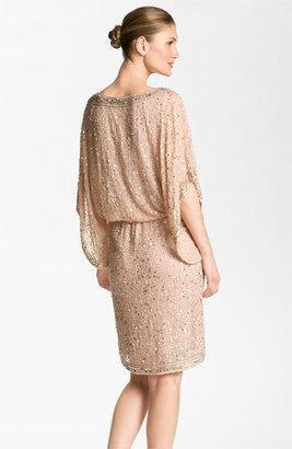 Patra Embellished Kimono Sleeve Silk Caftan Dress