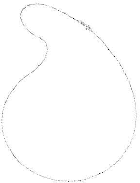 JCPenney 14K White Gold Diamond-Cut Bead Chain