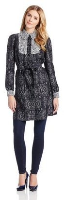 Anna Sui Women's Eyelet Jacquard and Daisy Burnout-Lace Trench