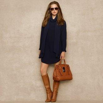 Ralph Lauren Blue Label Double-Chiffon Dress & Scarf