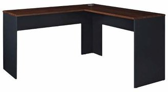 Room & Joy Eastcrest Contemporary L-Shaped Desk - Cherry/Slate Gray