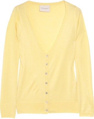 Crumpet Fine-knit silk and cashmere-blend cardigan