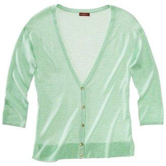 Merona Women's Pointelle Cardigan Sweater - Green