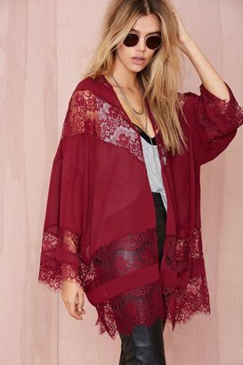 Factory Sheer Caress Lace Kimono