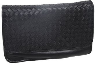 "Christopher Kon PL1074"" Black Woven Leather Clutch"