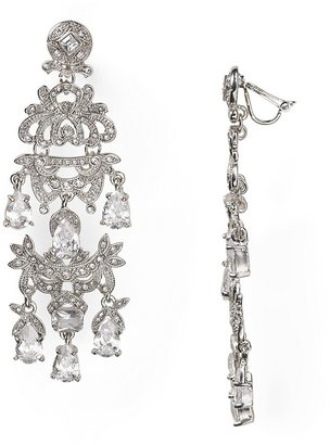Carolee Lux Dressed to the Nines Large Chandelier Clip Earrings