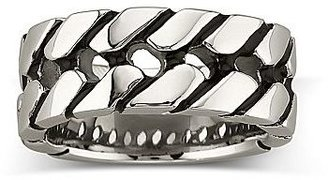 JCPenney Men's Stainless Steel Tire Tread Band