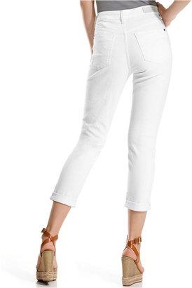 DKNY Jeans, Soho Boyfriend Cropped, White Wash
