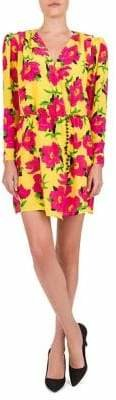 The Kooples Floral Sheath Wrapped Dress