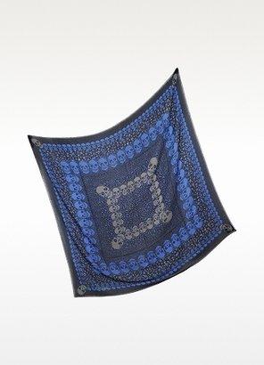 Zadig & Voltaire Kerry Garden Blue Modal Shawl