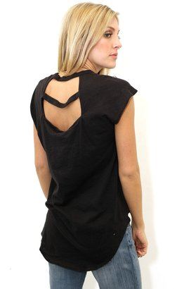 LnA Hi Lo V Neck in Black