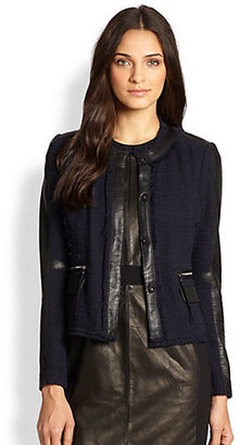 Rebecca Taylor Tweed Fitted Blazer