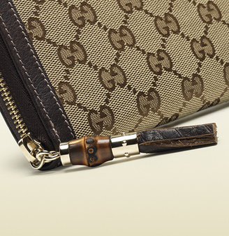 Gucci Zip Around Wallet With Tassel And Bamboo Detail