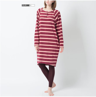Uniqlo Women Micro Fleece Dress(Stripe) (Long Sleeve)