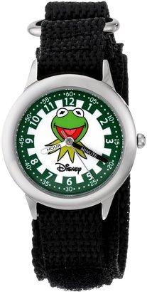 """Disney Kids' W000162 """"Muppets Kermit"""" Stainless Steel Time Teacher Watch"""