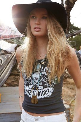 Urban Outfitters Bandit Brand Skull Lace Tank Top