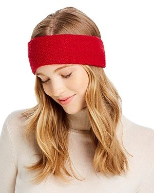 Bloomingdale's C by Waffle-Knit Cashmere Headband - 100% Exclusive