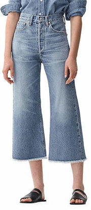 Citizens of Humanity Frayed Wide-Leg Jeans