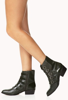 Forever 21 must-have buckle booties