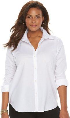 Chaps Plus Size No Iron Shirt