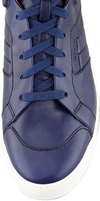 Bally Atlanta Leather High-Top Sneaker, Blue