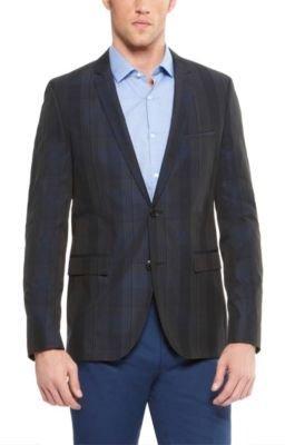 HUGO BOSS 'Adris' - Extra Slim Fit, Cotton-Silk Blend Plaid Sport Coat