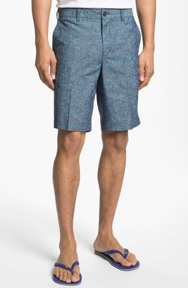 Ben Sherman Print Chambray Shorts