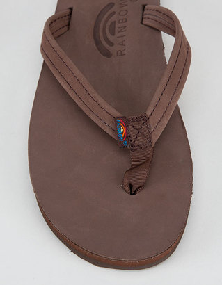 Rainbow Narrow Strap Womens Sandals