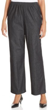 Alfred Dunner Classics Pull-On Denim Pants in Petite and Petite Short