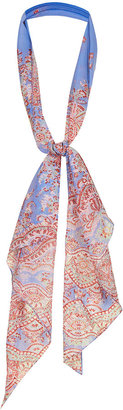 Kate Moss for topshop **paisley print chiffon scarf