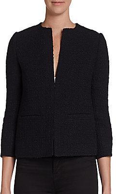Vince Cropped Tweed Jacket