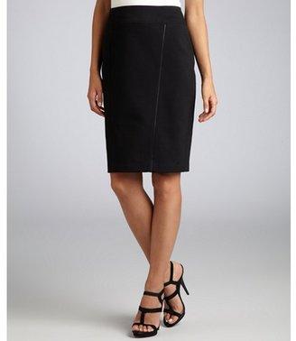 Elie Tahari black stretch 'Reed' pencil skirt