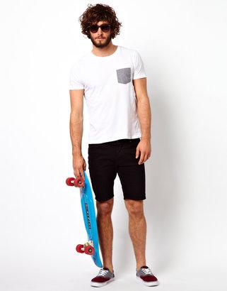 Asos Denim Shorts In Super Skinny Fit