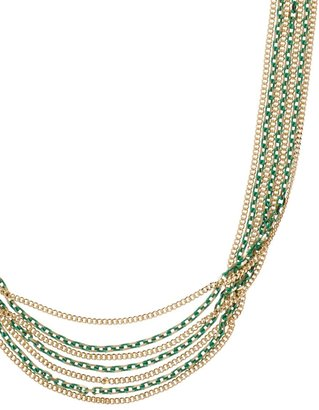 Coldwater Creek Painted chains necklace