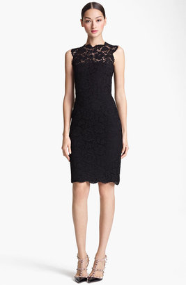 Valentino Lace Sheath Dress