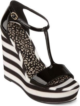 JCPenney COSMOPOLITAN Cosmopolitan Hayden T-Strap Wedge Sandals