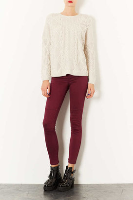 Topshop Biker Quilt Skinny Trousers
