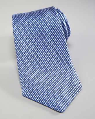 Salvatore Ferragamo Basketweave Silk Tie, Navy/Blue