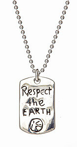Jessica Elliot Respect The Earth Dog Tag Necklace