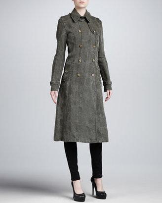 Michael Kors Seamed Cotton Trenchcoat
