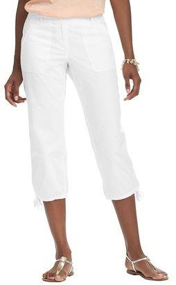 LOFT Petite Julie Cropped Pants in Textured Cotton