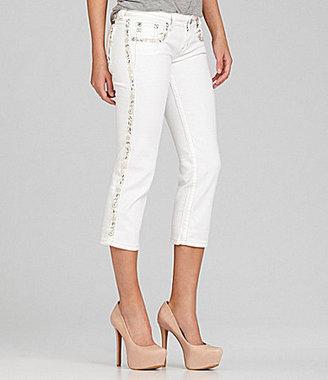Miss Me Tuxedo-Stripe Capri Jeans