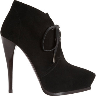 Lanvin Pointed Toe Lace-Up Ankle Boot