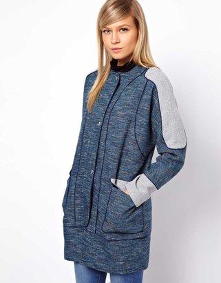 Asos Blocked Textured Coat