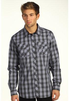 Ecko Unlimited L/S Buffalo Plaid Shirt (Black) - Apparel