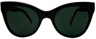 Cat Eye Kamali Kulture Square Sunglasses / Black